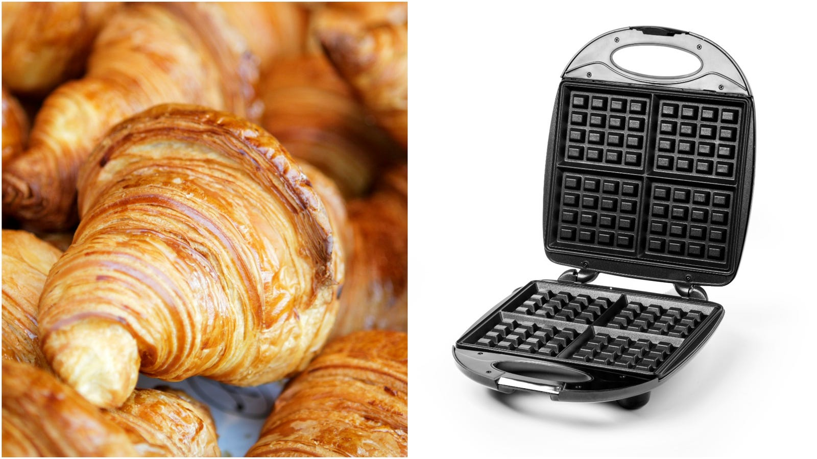 Croiffles—croissants pressed in a waffle iron—is something we can get behind