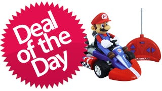 Illustration for article titled This Radio-Controlled Mini Super Mario Kart Is Your Permanently-Lightning-Bolted Deal of the Day