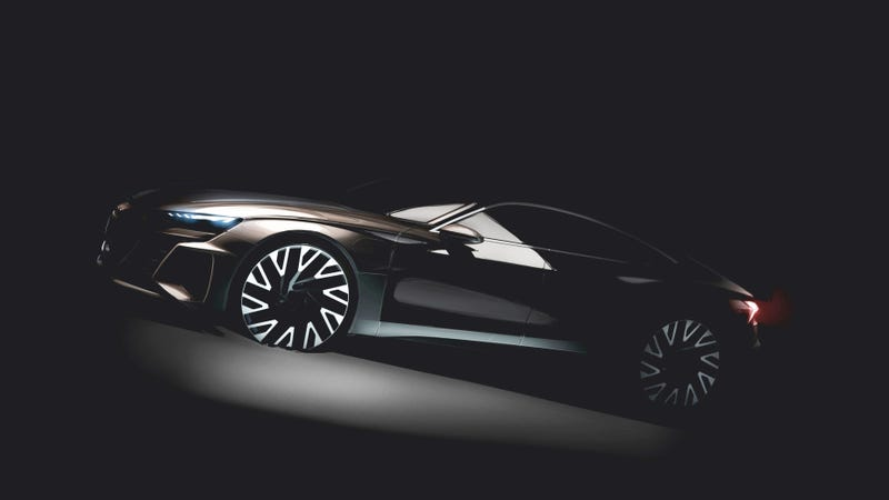 Illustration for article titled The All-Electric Audi E-Tron GT Will Be Your Sleek Chariot Into The Future