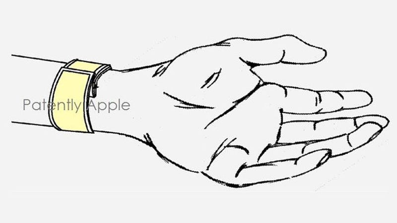 Illustration for article titled This Apple Slap Bracelet Patent Doesn't Tell Us Much About an iWatch