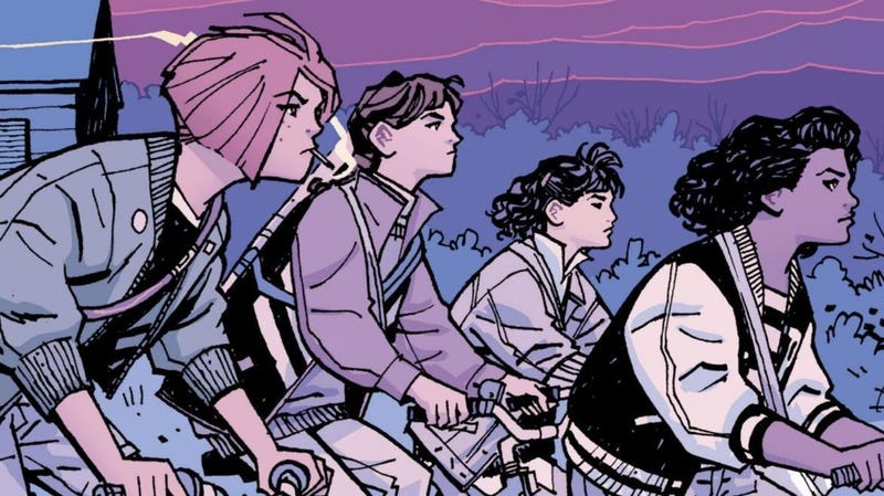 An image from Paper Girls, illustrated by Cliff Chiang