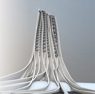 Illustration for article titled Tomorrow's Skyscrapers Look Like Energy-Efficient Pasta