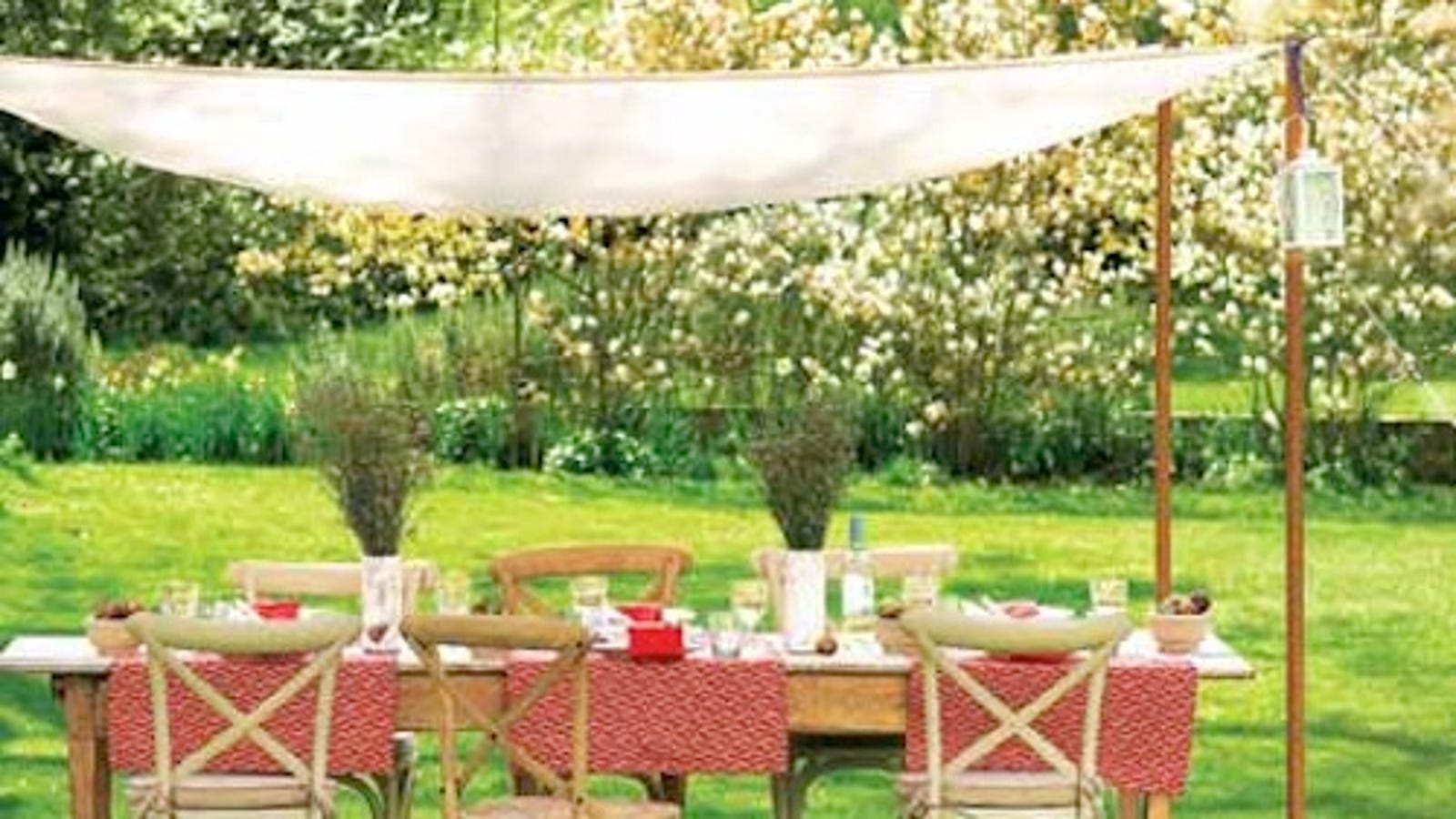 Create Your Own Cheap Weather Shielding Outdoor Canopy