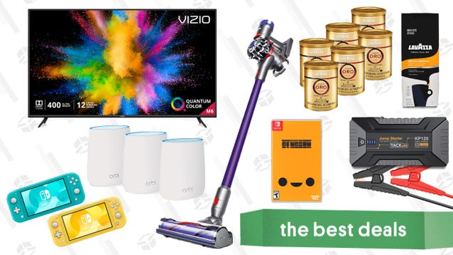 Thursday s Best Deals: Vizio 65  QLED TV, Dyson Cordless Vacuum, Tacklife 1200A Car Jump Starter, and More
