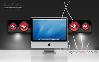 Illustration for article titled Lights, Music, Beauty Speaker System Turns iMac into a Light Show