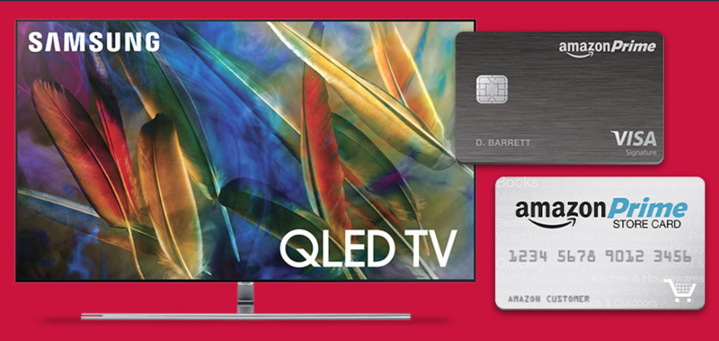 15% cash back with Amazon credit card on Samsung QLED TV purchase | Amazon10% cash back with Amazon credit card on LG OLED TV purchase | Amazon