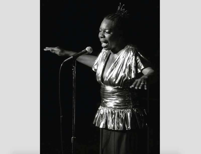 In this June 27, 1985, file photo, Nina Simone performs at Avery Fisher Hall in New York City.