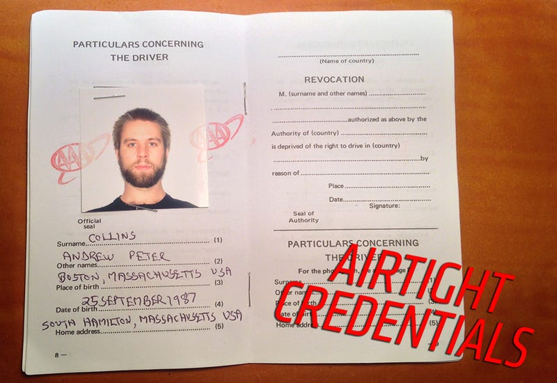 The Hilariously Sketchy Slip Of Paper You Need To Drive In 150 Countries