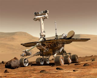 Illustration for article titled Stranded, Stubborn Mars Rover Actually Makes a Big Discovery