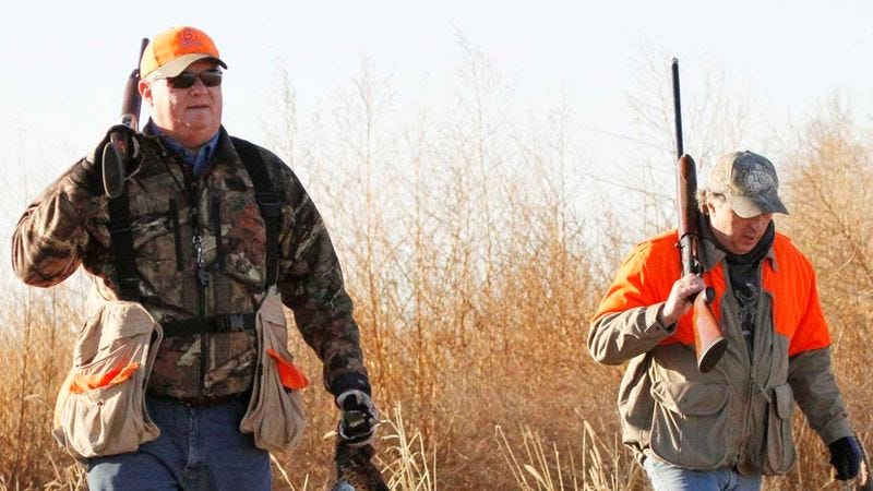 Illustration for article titled Nation's Cuckolded Husbands Gear Up For First Day Of Hunting Season With Wives' Lovers
