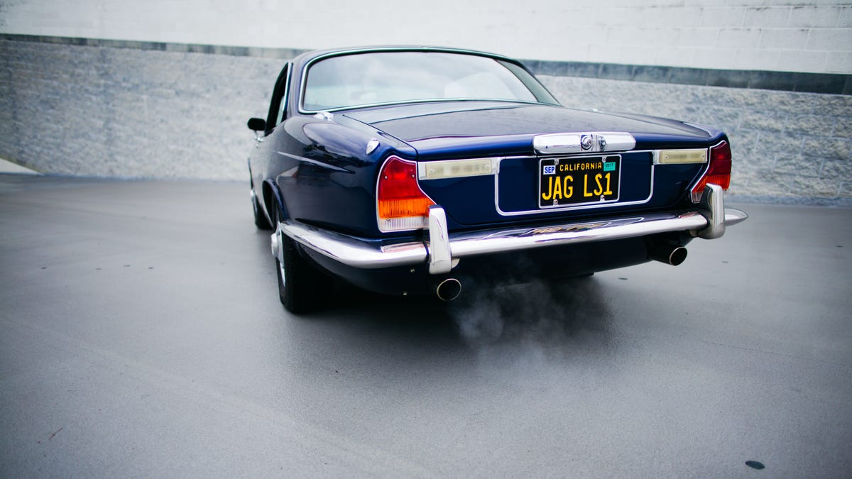 This Corvette Powered 1976 Jaguar Xj Coupe Was Perfect 1970 Xj6 Blue Interior
