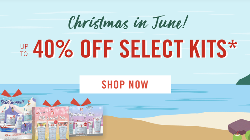 40% Off Past Season Holiday Kits | First Aid Beauty