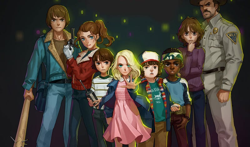 Illustration for article titled A Stranger Things Anime Is Not The Worst Idea