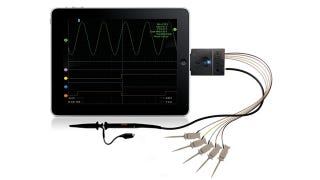 Illustration for article titled Oscium Can Turn Your iOS Gadget Into The World's Smallest Oscilloscope