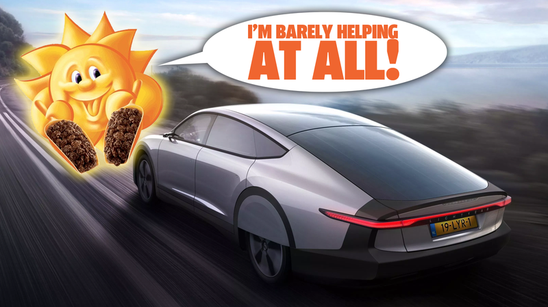 Illustration for article titled The Lightyear One 'Solar Car' Is Amazing But Isn't Quite What You Think It Is