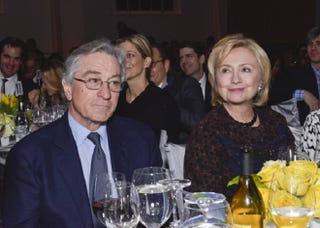 Illustration for article titled Hilary Clinton Gets Robert De Niro's Endorsement