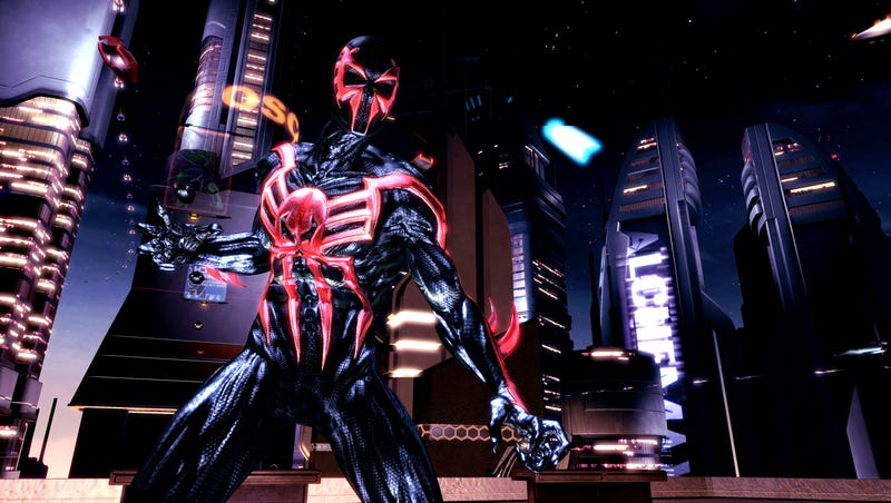 Illustration for article titled Is This Shattered Dimensions' Spider-Man 2099?