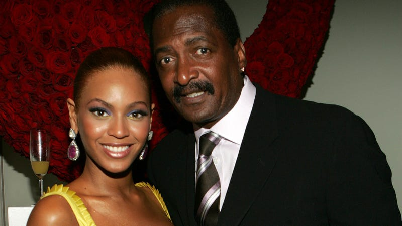 Beyoncé Knowles with her father, Mathew Knowles, on June 23, 2005, in New York City (Frank Micelotta/Getty Images)