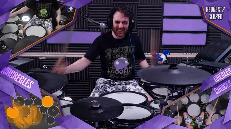Illustration for article titled Drumming On Twitch Helps Successful Streamer Control His Tourette's