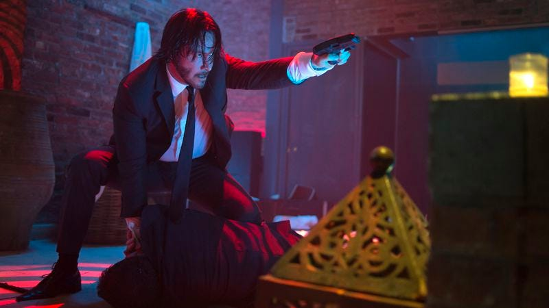 Illustration for article titled Keanu Reeves shoots his way through the entertaining action fantasy John Wick