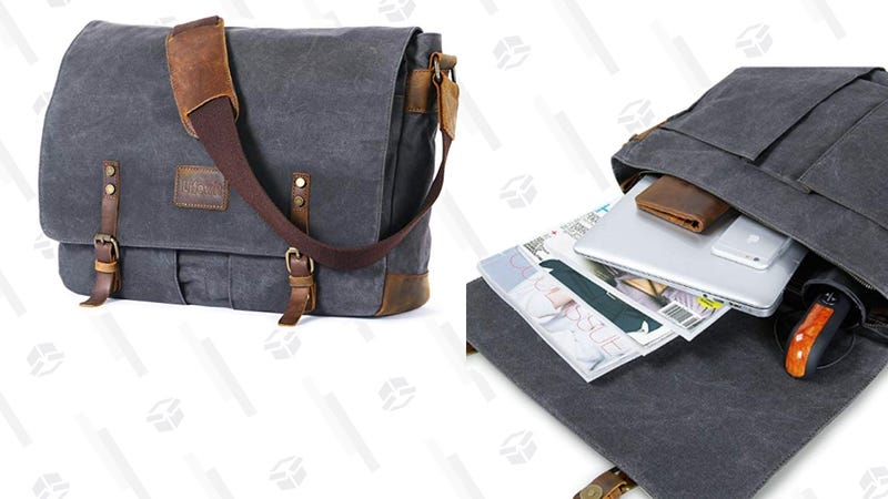 Lifewit Wax Canvas Messenger Bag Cross Body Laptop | $32 | Amazon | Use code QVGGNNTU