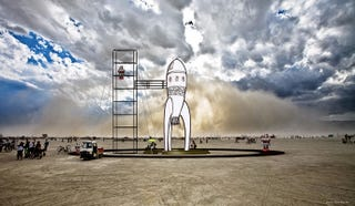 "Illustration for article titled Retro Raygun Rocket to Take ""Flight"" at Burning Man"