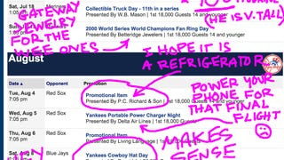 A Yankily Annotated List of New York Yankees Promotions And Giveaways