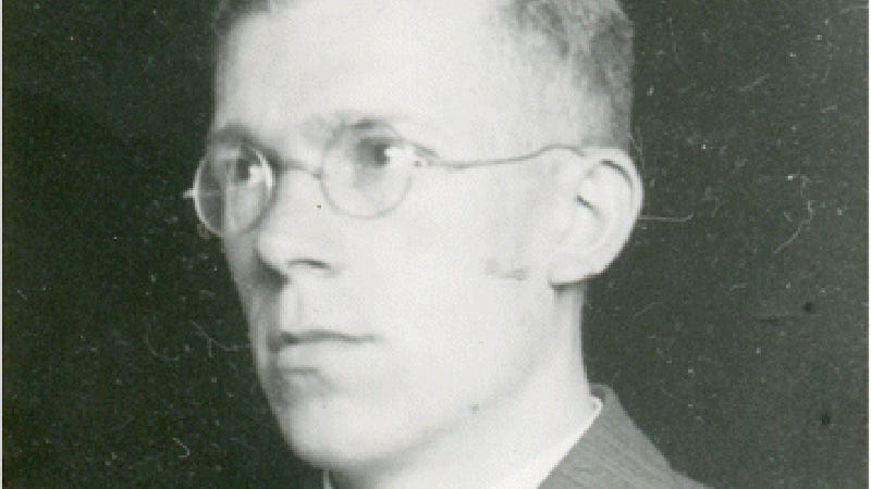 Portrait of Hans Asperger from his personnel file.