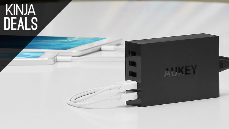 Illustration for article titled Power Up Five Gadgets at Once With This $17 Charger