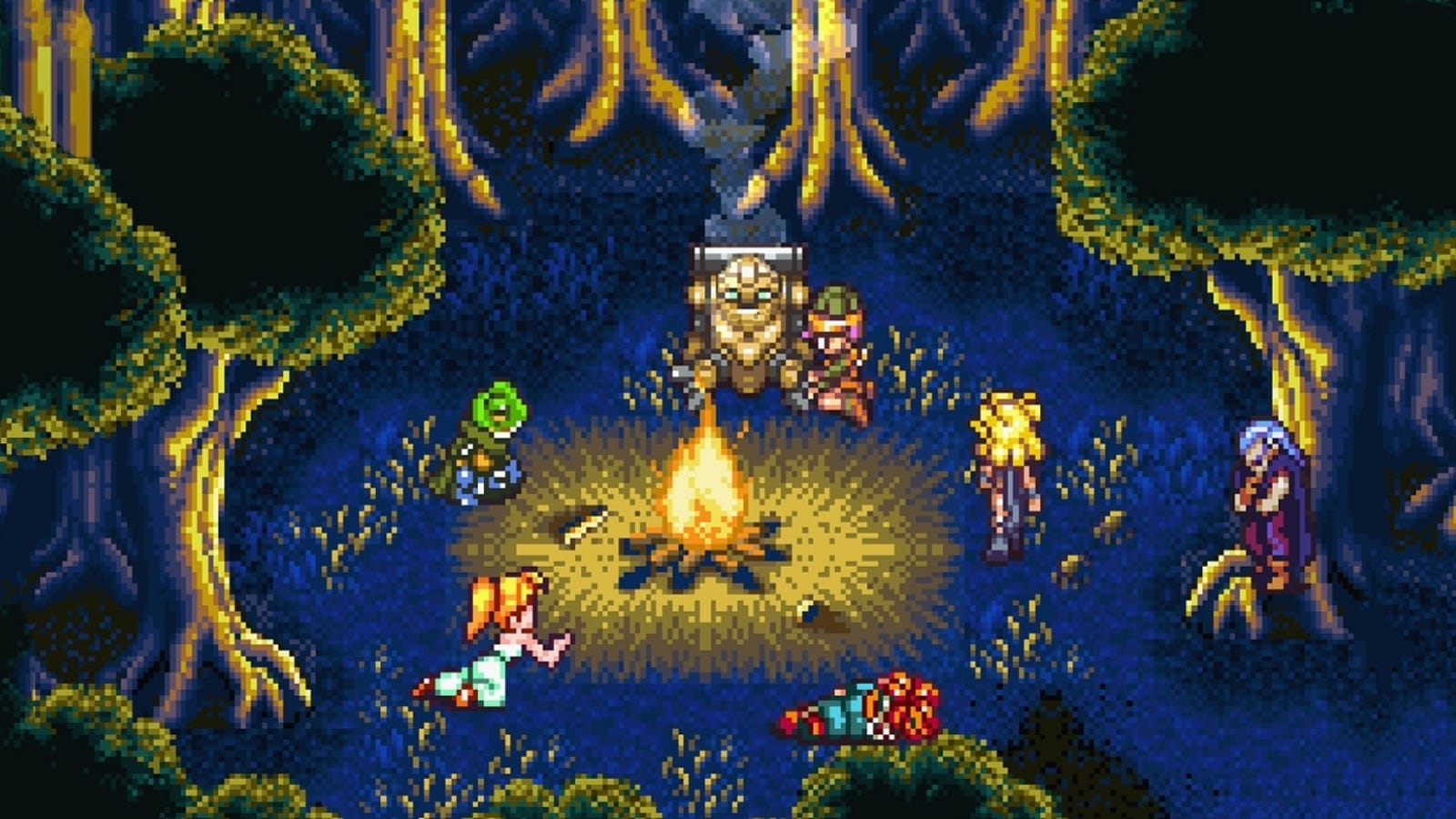 Image result for chrono trigger camp scene