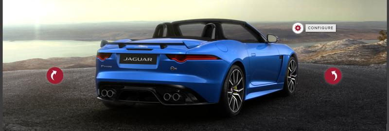 Screenshot via Jaguar's F-Type SVR online configurator