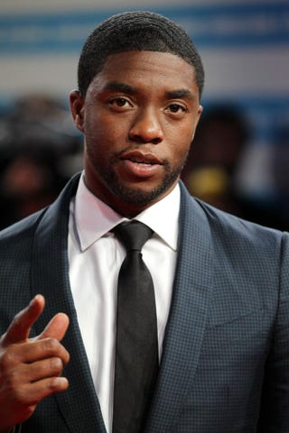Chadwick Boseman arrives at the premiere of Get on Upduring the 40th Deauville U.S. Film Festival Sept. 12, 2014, in France.CHARLY TRIBALLEAU/AFP/Getty Images