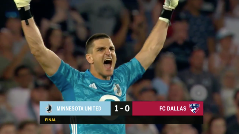 The illustration of the article entitled Minnesota United FC scored a goal that won the game and saved a penalty, all in a time of detention.