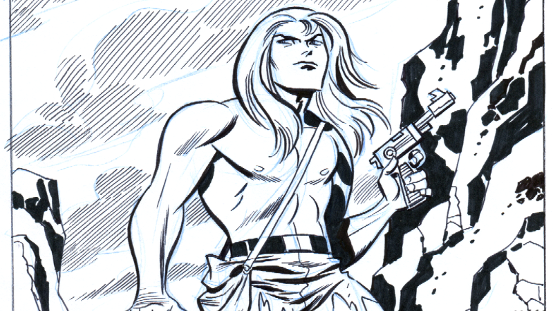 Sketch cover art for Kamandi #1, by Bruce Timm