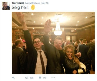 Attendees at white nationalist dinner held at Maggiano's Little Italy in Washington, D.C.Twitter