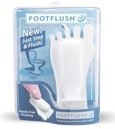 Illustration for article titled Foot Flush Allows Hands-Free Flushing, Caters to Your OCD Tendencies