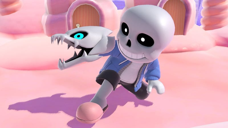 Illustration for article titled Undertale's Sans Joins Smash Bros. As A Mii Fighter Costume