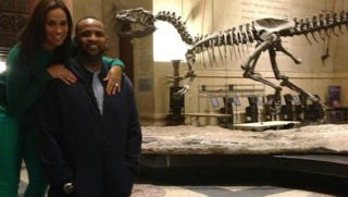 Illustration for article titled C.C. Sabathia And His Wife Are Spending Valentine's Night With Dinosaurs And Twitter