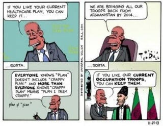Ted Rall's controversial cartoon.Twitter