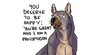 Illustration for article titled Motivational Megafauna just want you to be happy