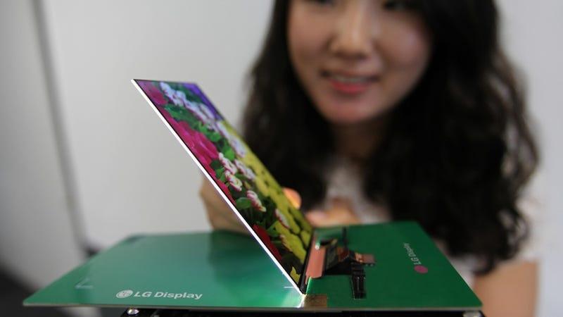 La pantalla 1080p más delgada del mundo es casi tan fina como el papel