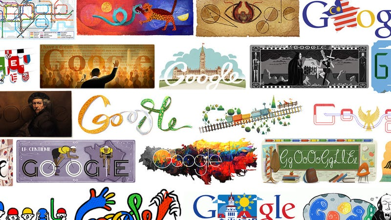 Illustration for article titled The Greatest Google Doodles From Each Year of Google History