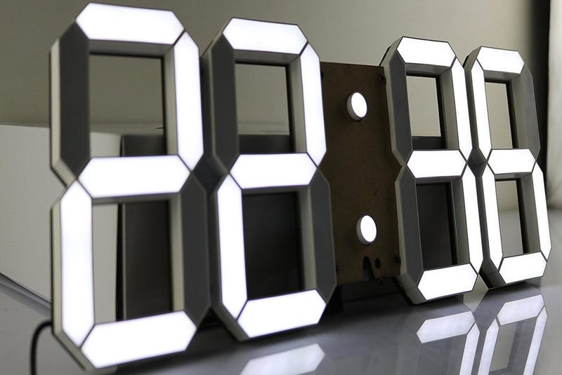 Pinty Oversized LED Clock | $76 | Amazon | Clip the 5% coupon