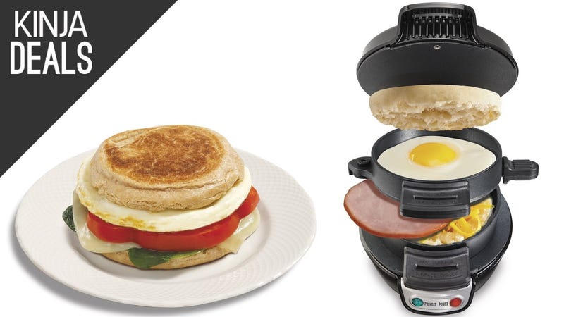 Illustration for article titled This $20 Breakfast Sandwich Maker Saves You Time, and Dirty Dishes Too