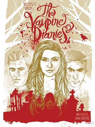 Illustration for article titled Vampire Diaries Poster