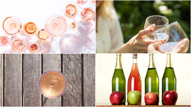 Illustration for article titled Why rosé cider is the beverage of the moment