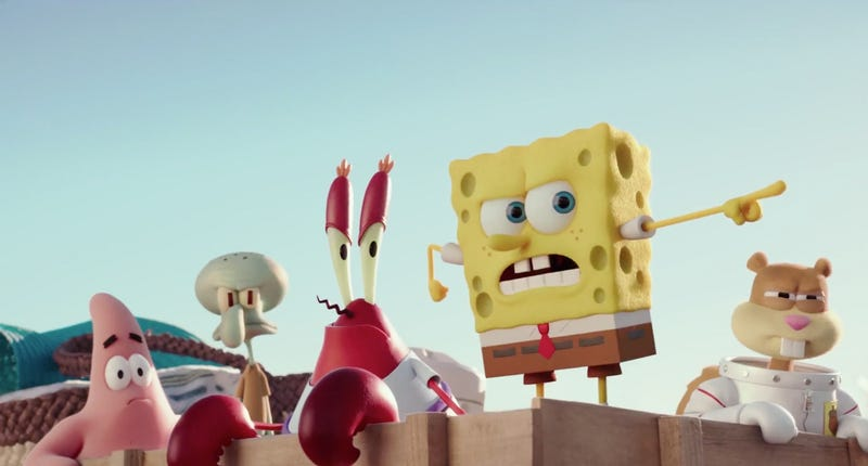 Illustration for article titled What Is Going On With The UK Release Of The New SpongeBob Film?