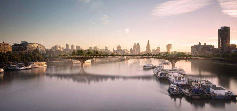 Illustration for article titled Londres construirá un puente por el que solo podrán cruzar 8 peatones