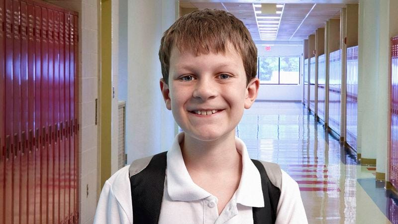 Illustration for article titled 'New Year, New Caleb,' Announces Self-Assured Seventh-Grader On First Day Of School