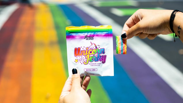 Put Unicorn Jerky CBD in Your Mouth for 30% off, and Send $1 To The Trevor Project [Exclusive]